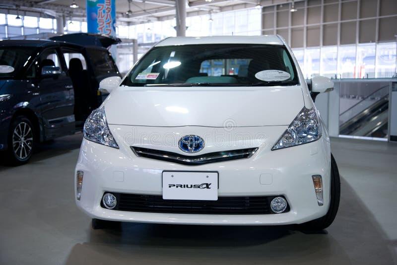 Toyota Prius 2017 toyota Electro coche japón foto de archivo