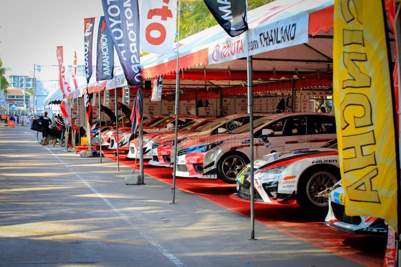 Toyota Racing team royalty free stock photo