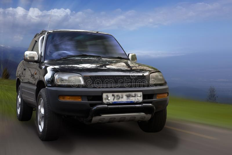 Toyota RAV-4 fotografia stock