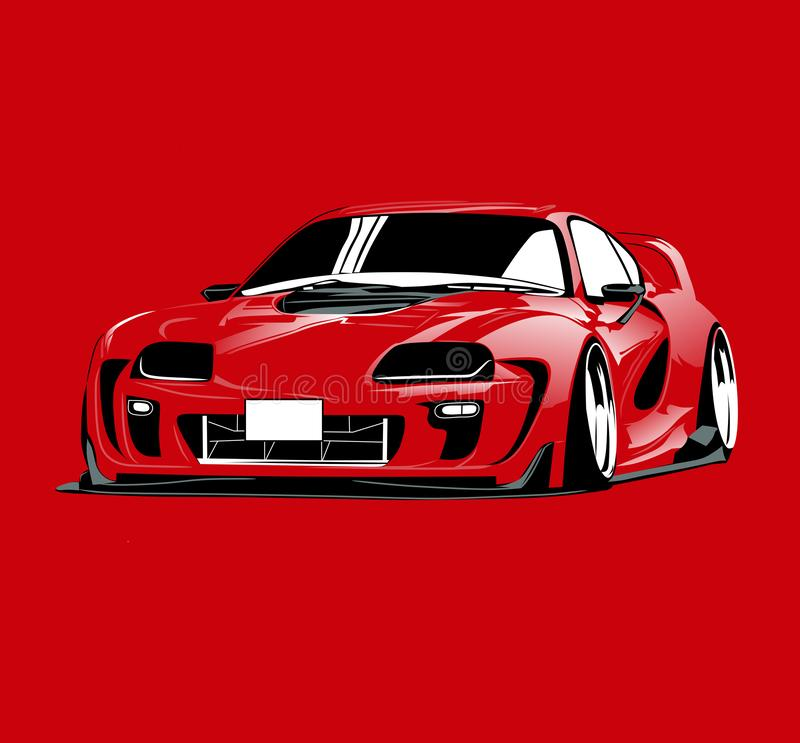Toyota Supra A80 Mk. IV. Vector Illustrations Infinite Design Android, a90 stock photo
