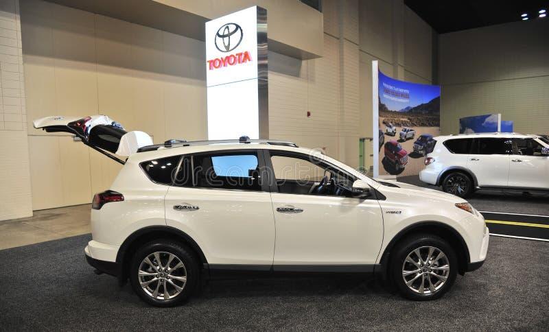 Toyota SUV tout neuf à un salon de l'Auto images stock