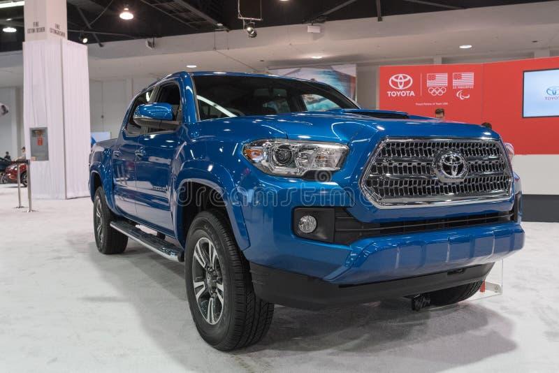 Toyota Tacoma op vertoning royalty-vrije stock foto's