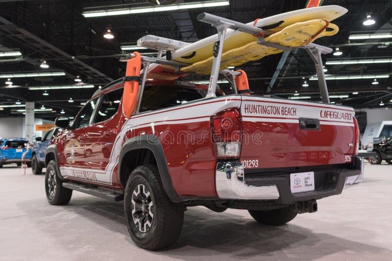 Toyota Tacoma op vertoning stock afbeelding