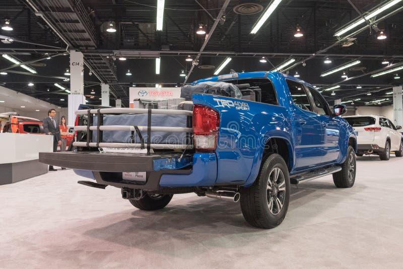 Toyota Tacoma op vertoning royalty-vrije stock afbeelding
