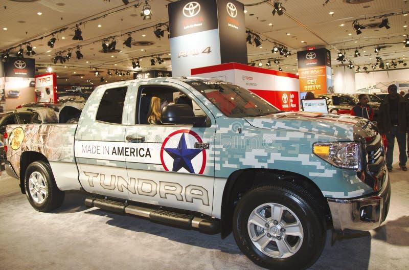 2015 Toyota-toont de Toendravrachtwagen bij Internationale Auto van New York van 2014 royalty-vrije stock fotografie