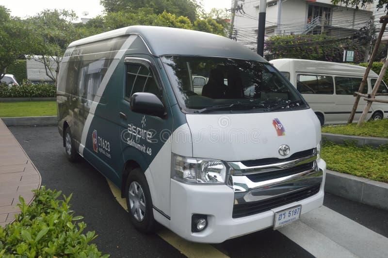 Toyota Van Aspiruje Sukhumvit 48 mieszkanie własnościowe obraz royalty free