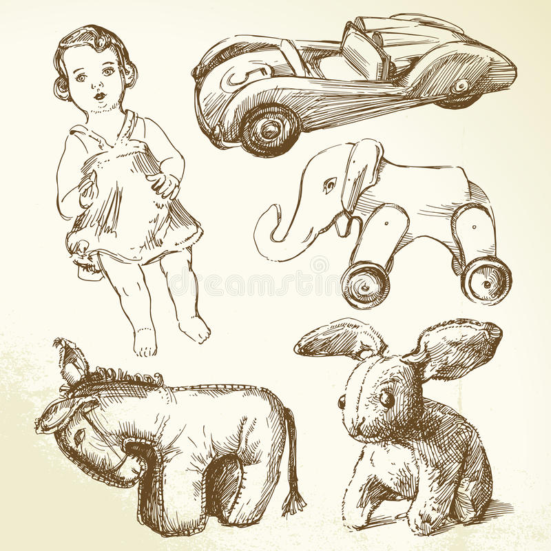 toys сбор винограда бесплатная иллюстрация