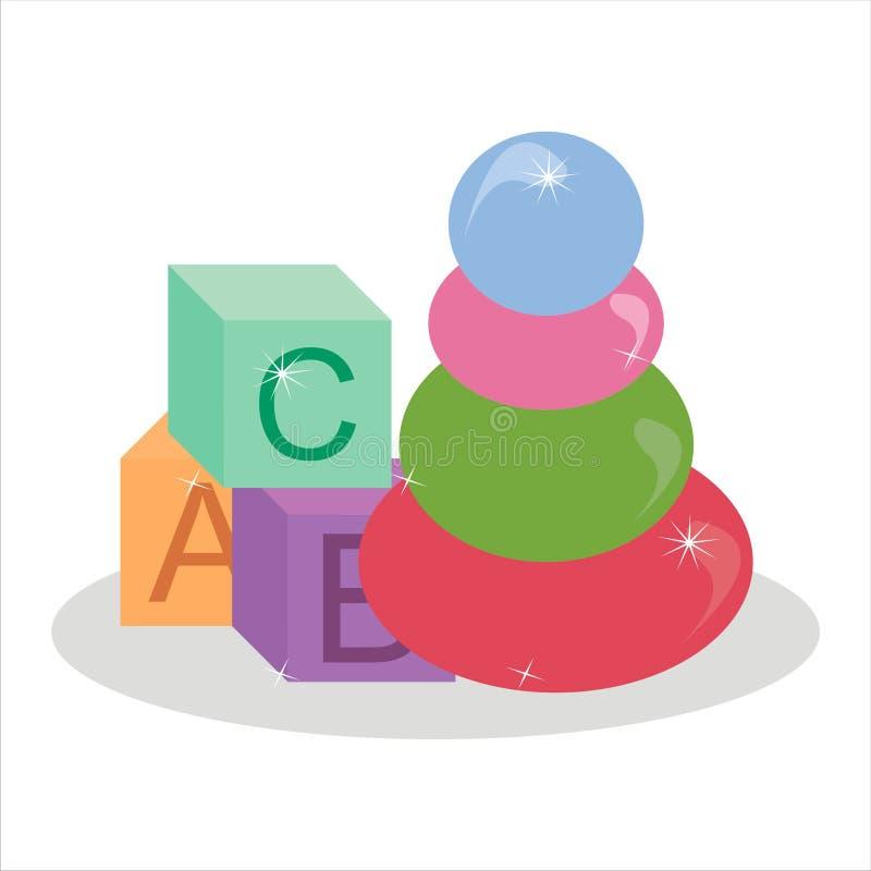 toys stock illustrationer
