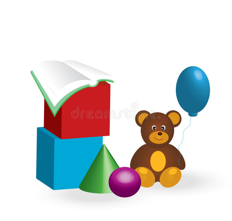 Toys. For children.3d illustration stock illustration