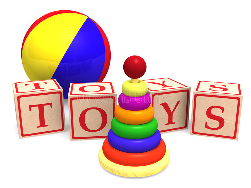 Toys royalty free illustration