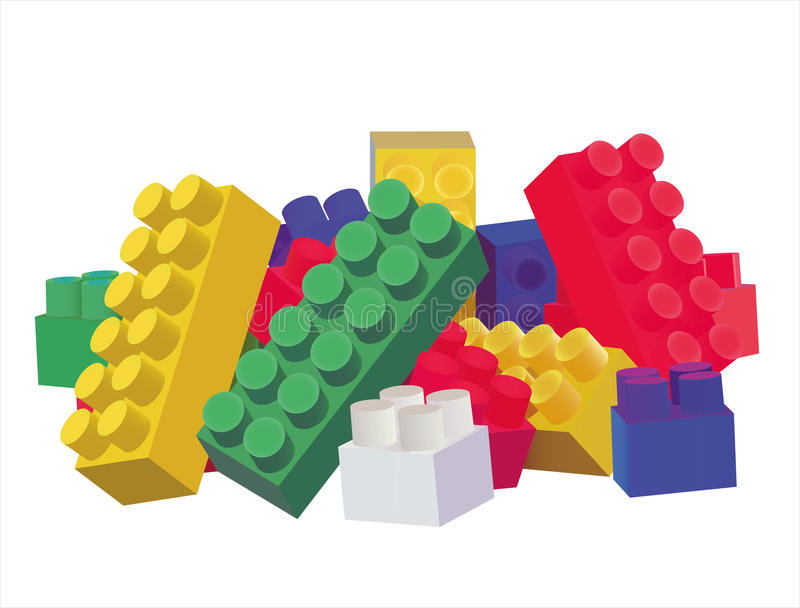 Toys. Isolated on a white background (preparation); vector