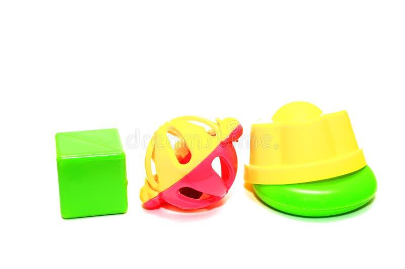Toys. Photo of the toys on white background stock photos