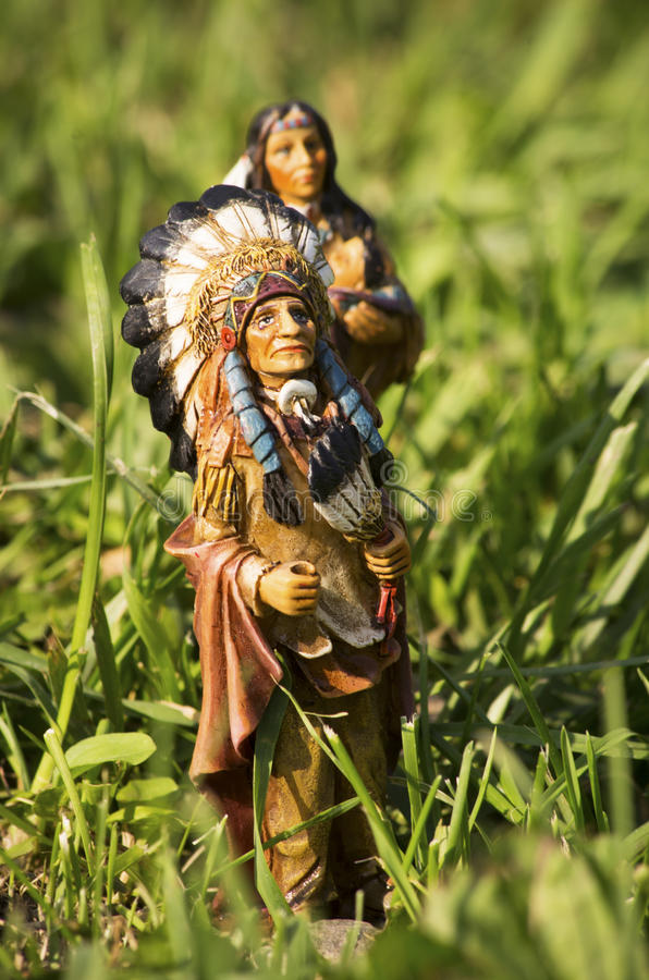 Toys - American Indian couple royalty free stock photos