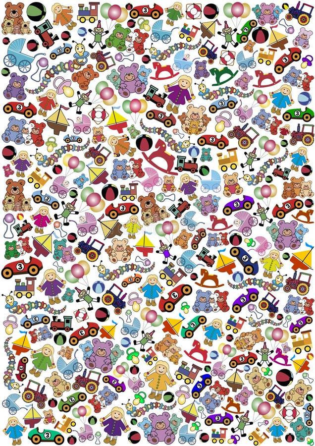 Toys background highsize royalty free illustration