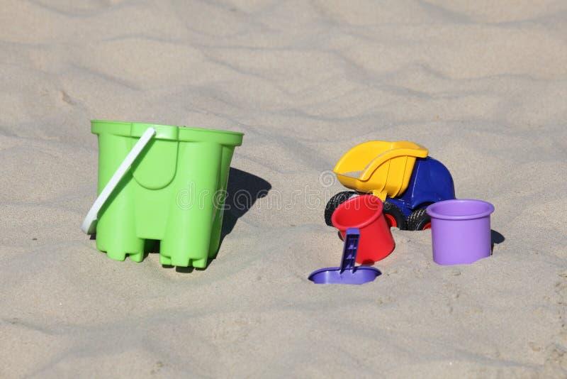 Toys On The Beach Royalty Free Stock Photos