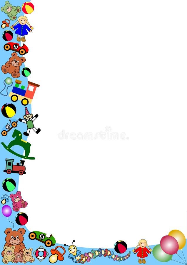 Toys border vector illustration