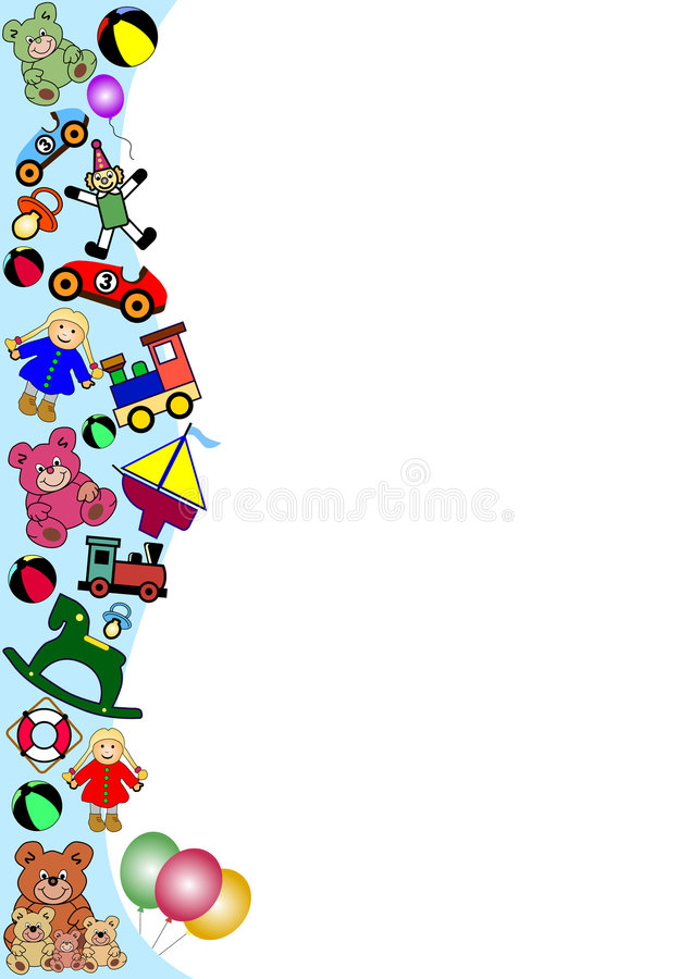 Toys border royalty free stock photography