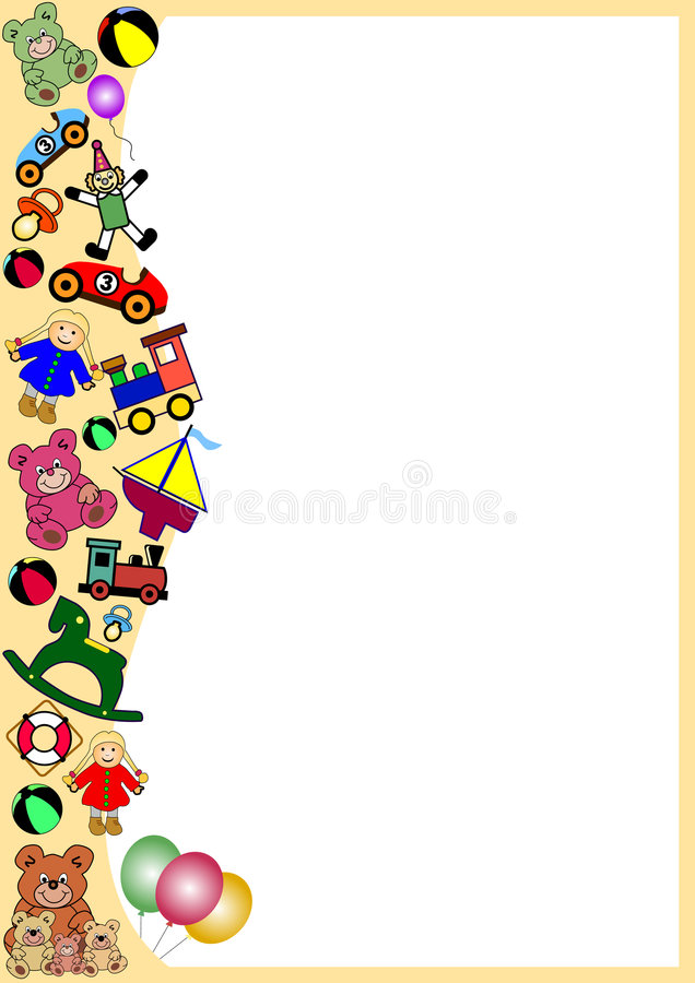 Download Toys border stock vector. Illustration of colors, crawl - 5290132