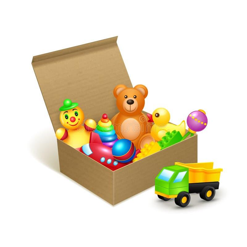 Toys box emblem stock illustration