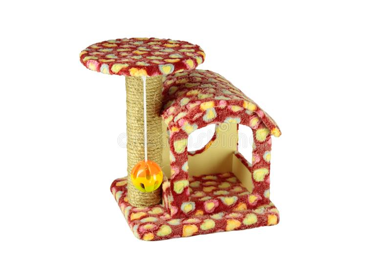 Toys for cat/Cat toys For nails And climb the ball Or take naps from time to time on isolated. Toys for cat/Cat toys For nails And climb the ball Or take naps stock images