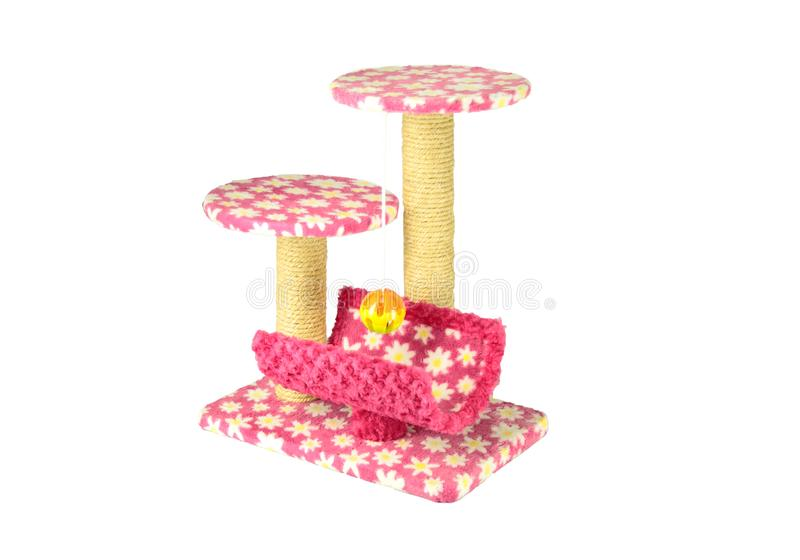 Toys for cat/Cat toys For nails And climb the ball Or take naps from time to time on isolated. Toys for cat/Cat toys For nails And climb the ball Or take naps royalty free stock image