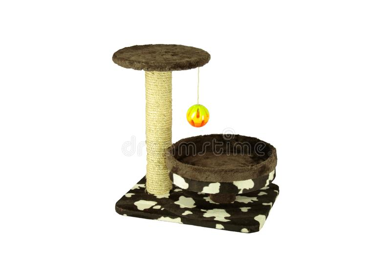 Toys for cat/Cat toys For nails And climb the ball Or take naps from time to time on isolated. Toys for cat/Cat toys For nails And climb the ball Or take naps royalty free stock photography