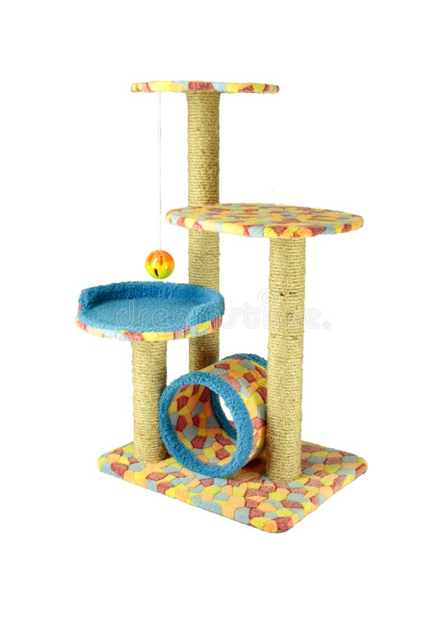 Toys for cat/Cat toys For nails And climb the ball Or take naps from time to time on isolated. Toys for cat/Cat toys For nails And climb the ball Or take naps stock image