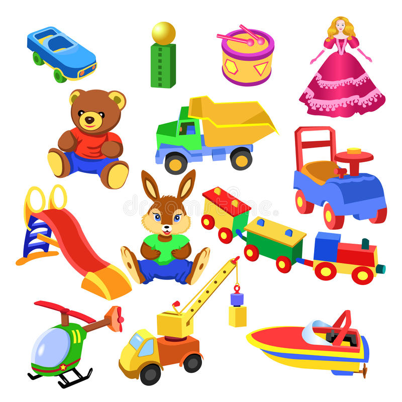 Toys collection stock illustration