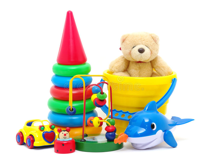 Toys collection royalty free stock image