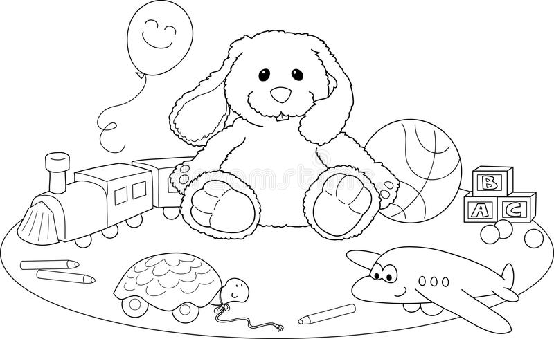 Toys coloring vector stock illustration