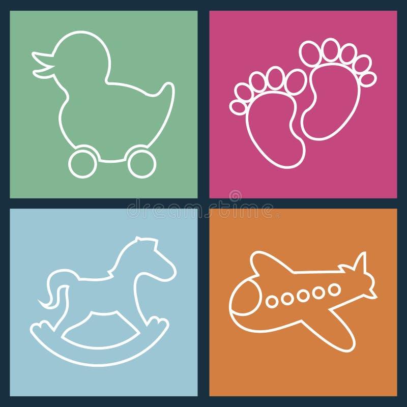 Toys design stock illustration