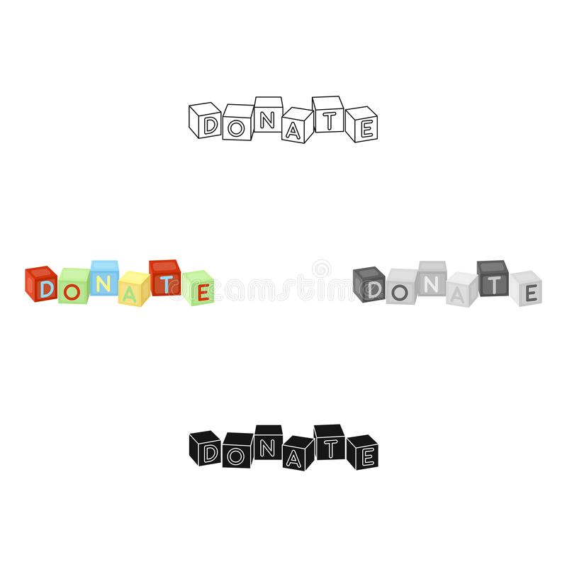 Toys donation icon in cartoon style isolated on white background. Charity and donation symbol stock vector illustration. Toys donation icon in cartoon design stock illustration
