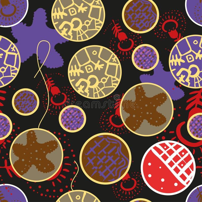 Toys för nytt år royaltyfri illustrationer