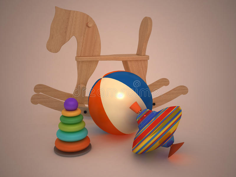 toys för barn s royaltyfri illustrationer