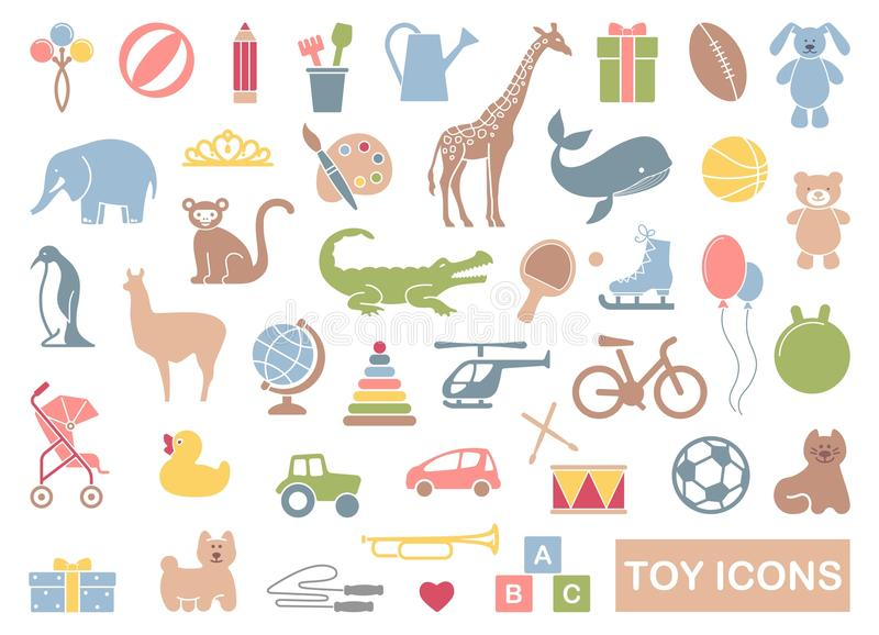 Toys icon set vector illustration