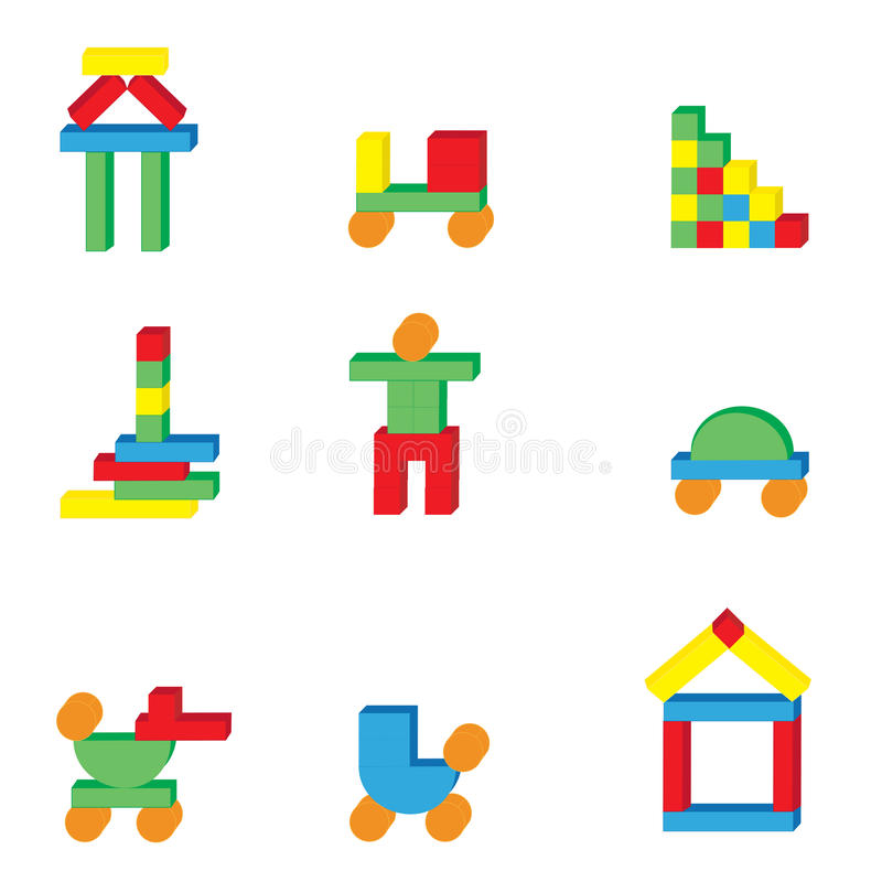 Download Toys icons stock vector. Image of duck, little, puppet - 14861133