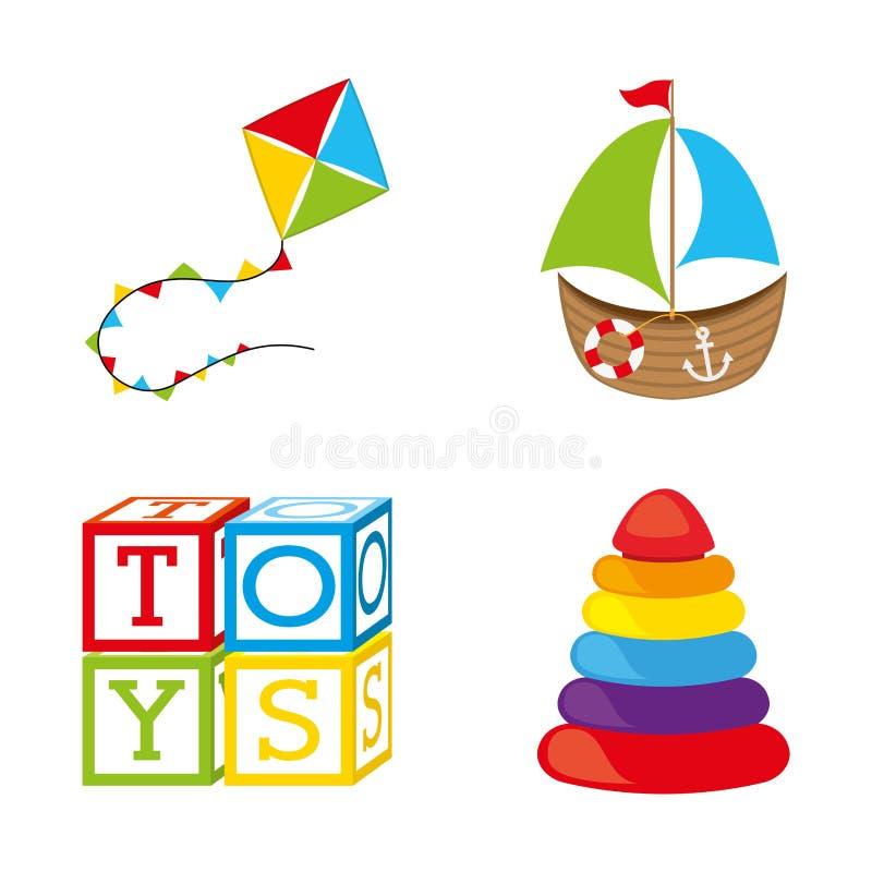 Toys icons royalty free illustration
