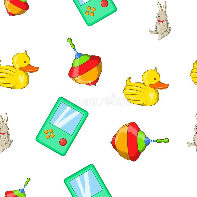 Toys kid pattern, cartoon style. Toys kid pattern. Cartoon illustration of toys kid pattern for web royalty free illustration