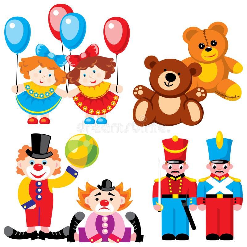 toys kopplar samman stock illustrationer
