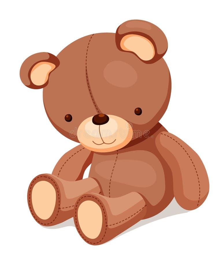 Toys - nallebjörn stock illustrationer