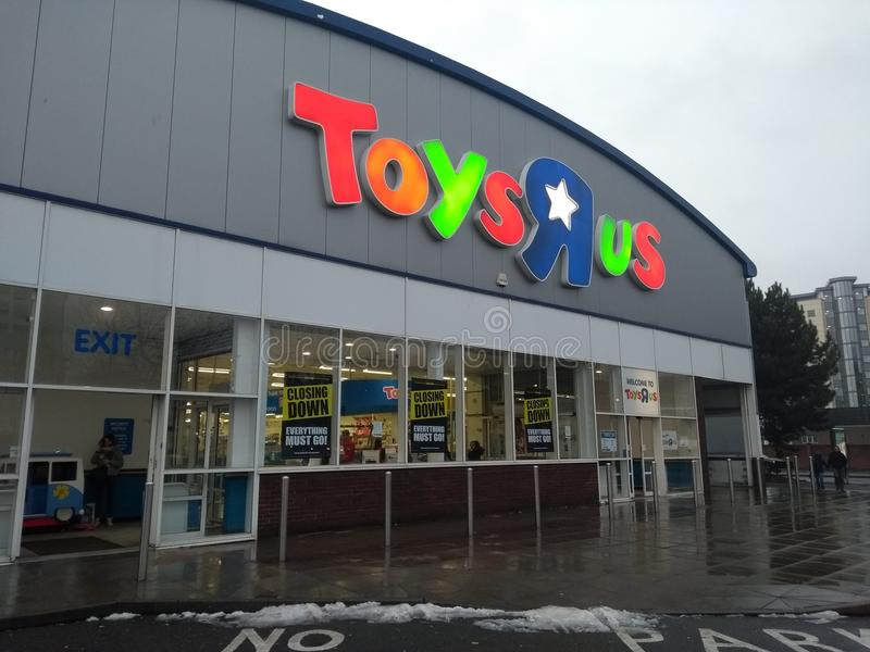 Toys R Us Sign Board Over Shop Editorial Photo - Image of