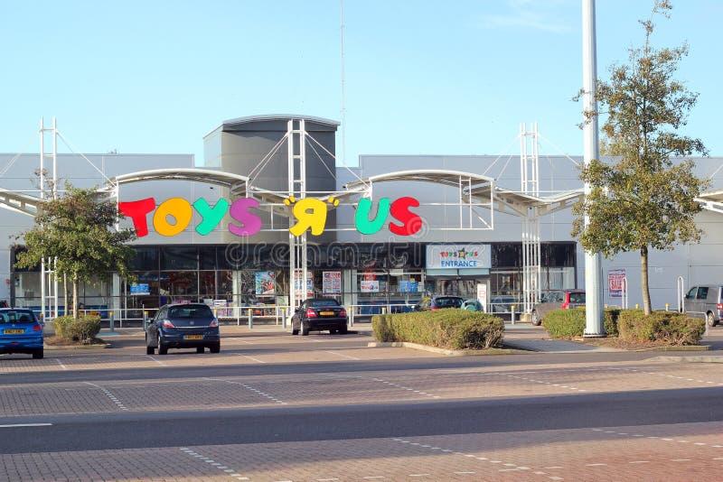Toys R Us lager. arkivfoton