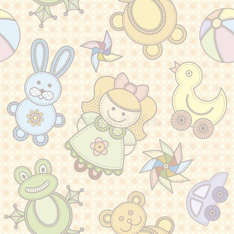 Toys seamless background stock illustration