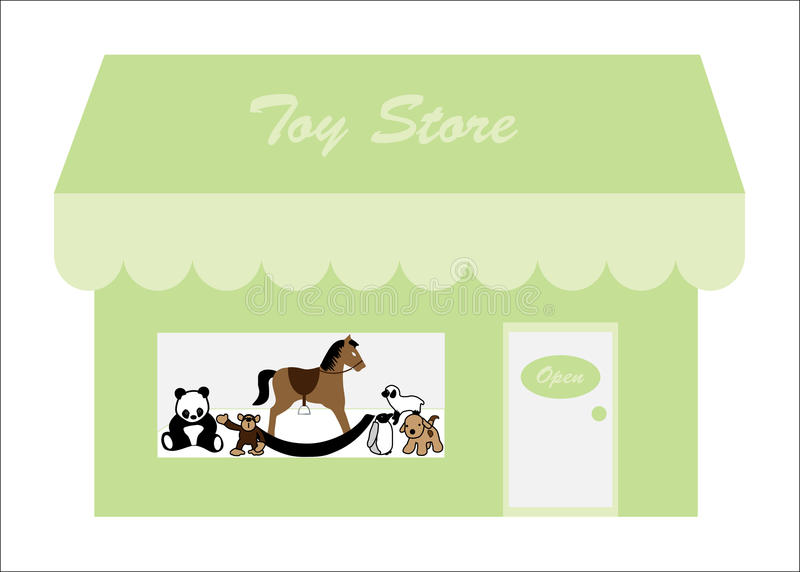 Toys In Shop Store Front Window Royalty Free Stock Photography