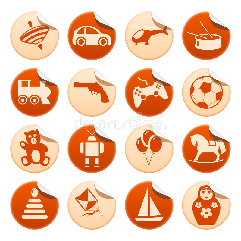 Download Toys stickers stock vector. Illustration of button, percussion - 22609475