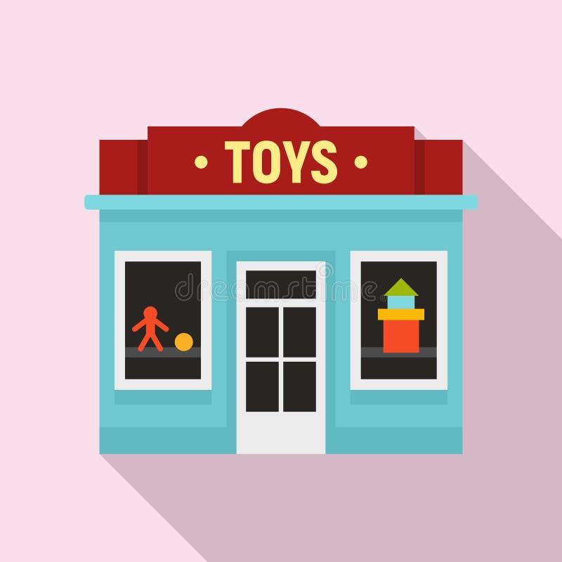 Toys street shop icon, flat style. Toys street shop icon. Flat illustration of toys street shop vector icon for web design vector illustration