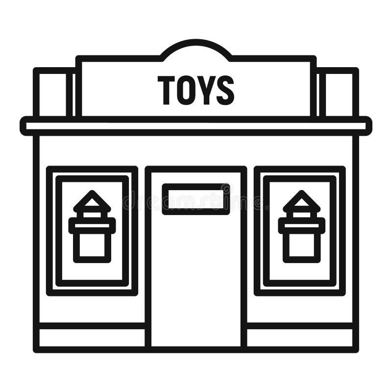 Toys street shop icon, outline style. Toys street shop icon. Outline toys street shop vector icon for web design isolated on white background stock illustration