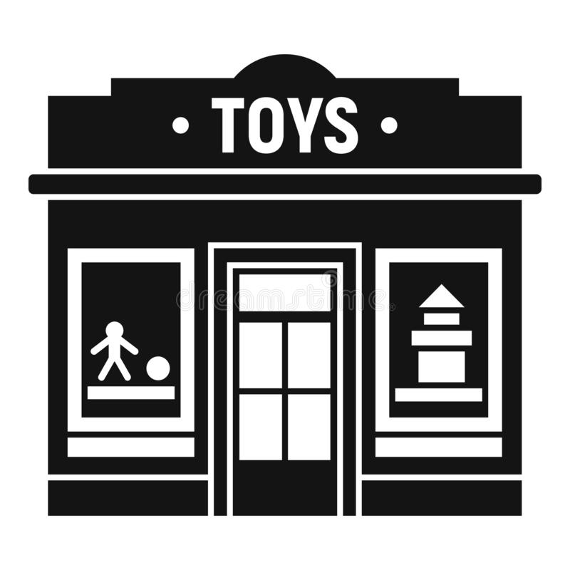 Toys street shop icon, simple style. Toys street shop icon. Simple illustration of toys street shop vector icon for web design isolated on white background royalty free illustration