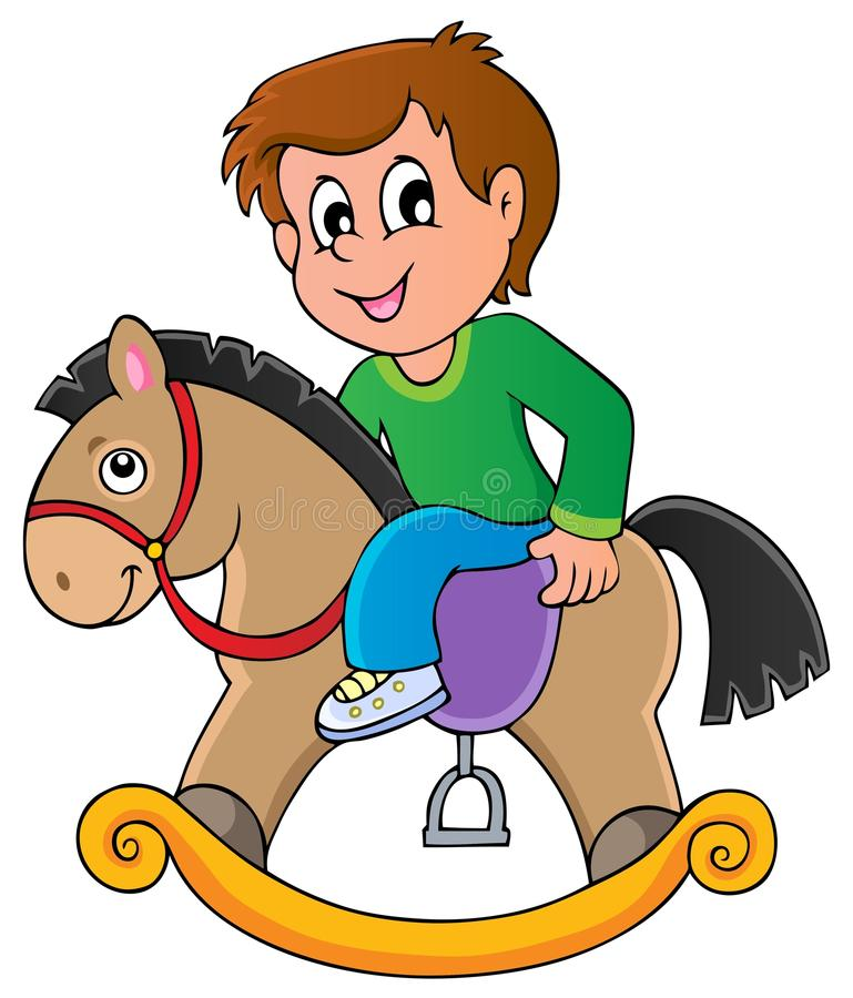 Toys temabild stock illustrationer