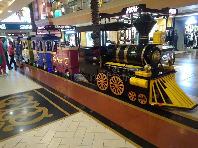Toys train to travel at Growels mall royalty free stock images